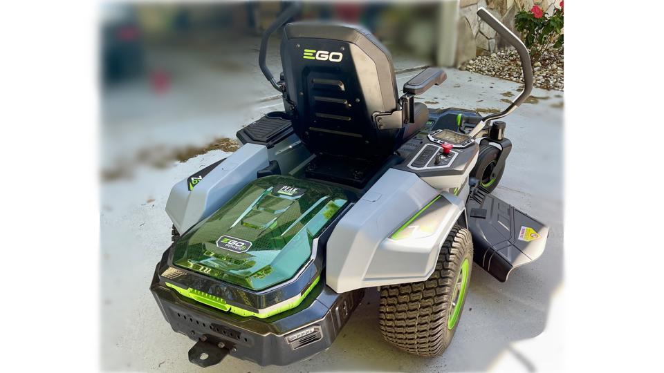 EGO Power+ 42″ Z6 Riding Mower, rear view