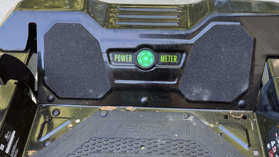 EGO Power+ 42″ Z6 Riding Mower power meter.