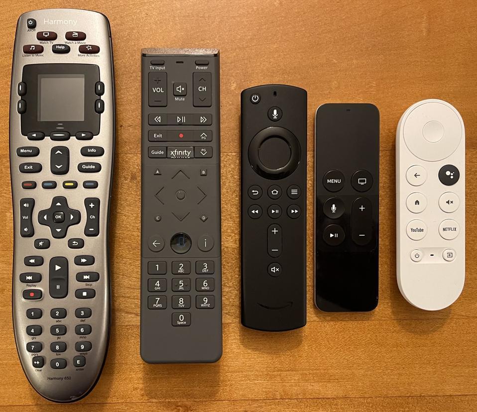 5 TV remotes
