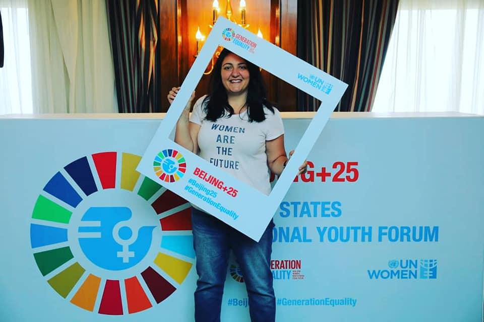 Hayat Mirshad member of the UN Women Youth Gender Innovation Agora