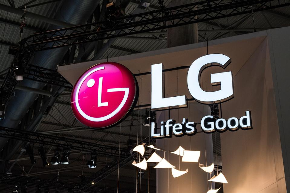 Logo of LG seen at the Mobile World Congress. The Mobile...