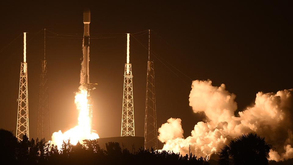 A SpaceX Falcon 9 rocket carrying the 19th batch of approximately 60 Starlink satellites launches from pad 40 at Cape Canaveral Space Force Station.  The satellites are part of a constellation designed to provide broadband internet service around the globe.
