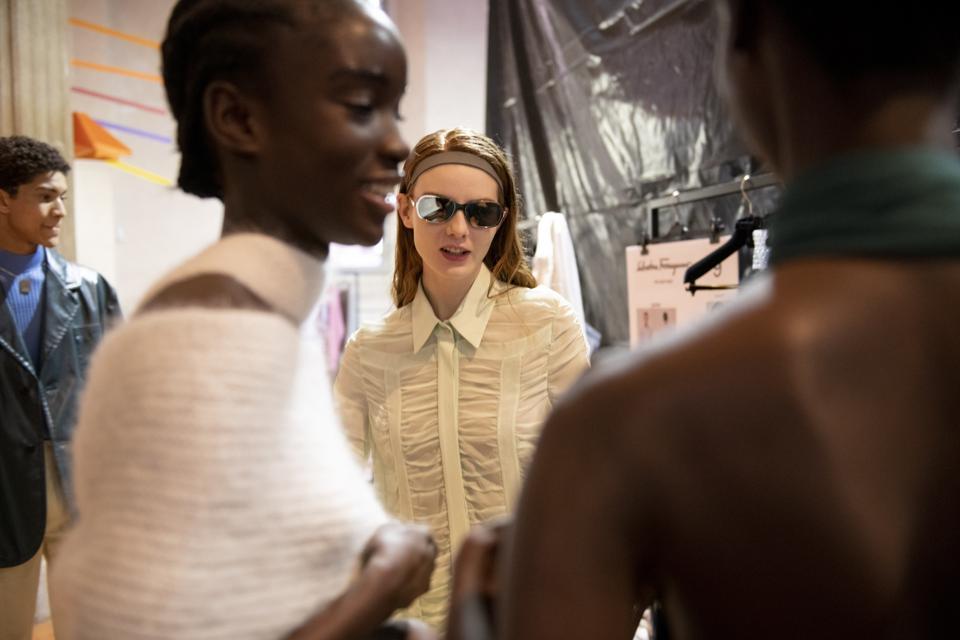 Salvatore Ferragamo - Backstage - Milan Fashion Week Fall / Winter 2021-2022