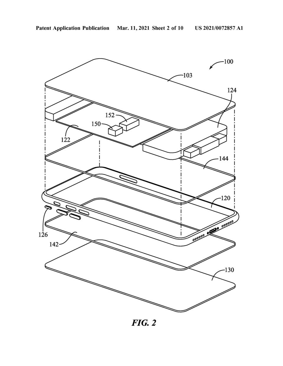 Part of the patent showing how a new version of 3D Touch might fit together.