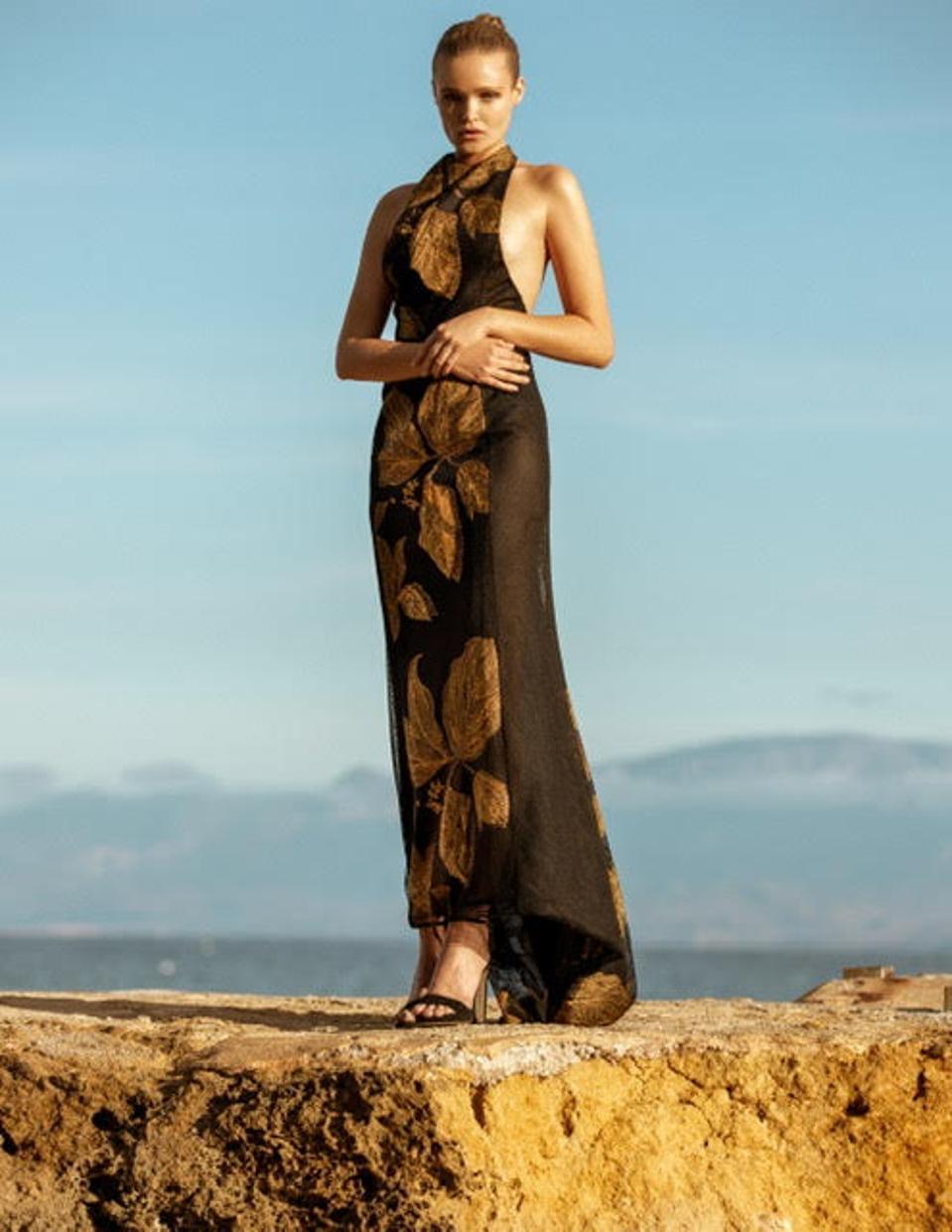 Gold Leaf Twilight Gown