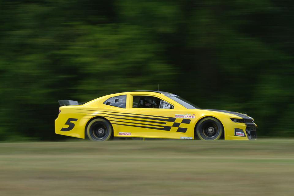 One of Hendrick Motorsports' Track Attack cars drives at Virginia International Raceway.