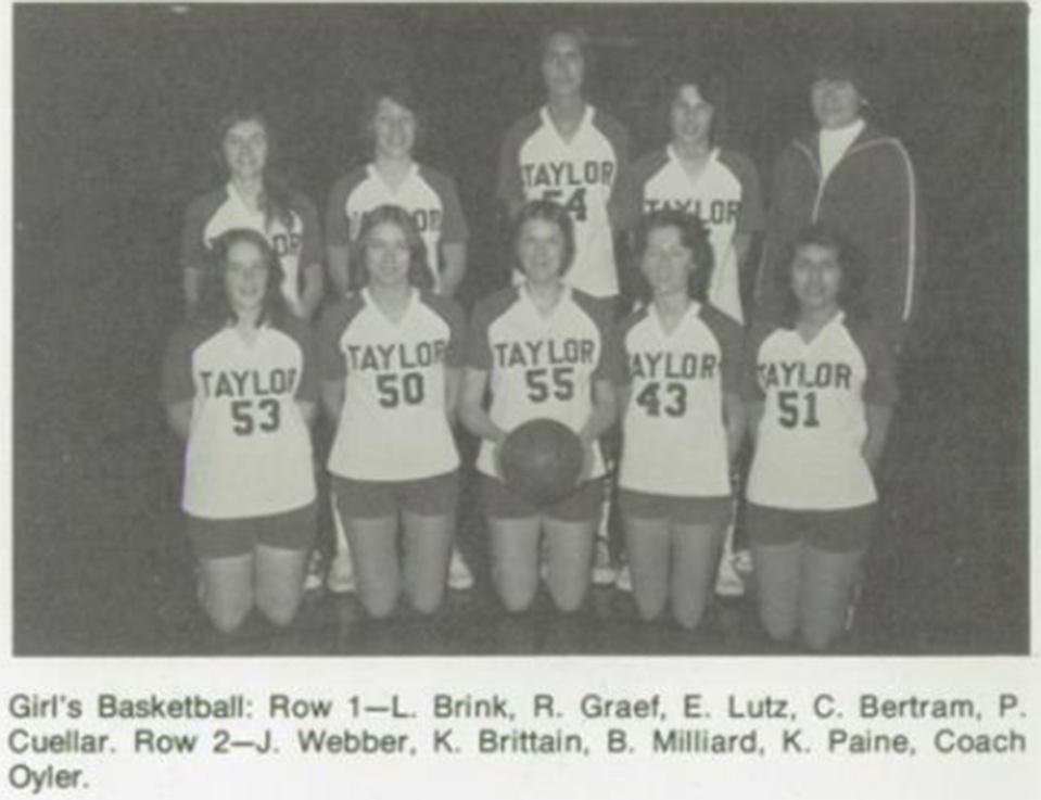 Taylor High School Basketball team.