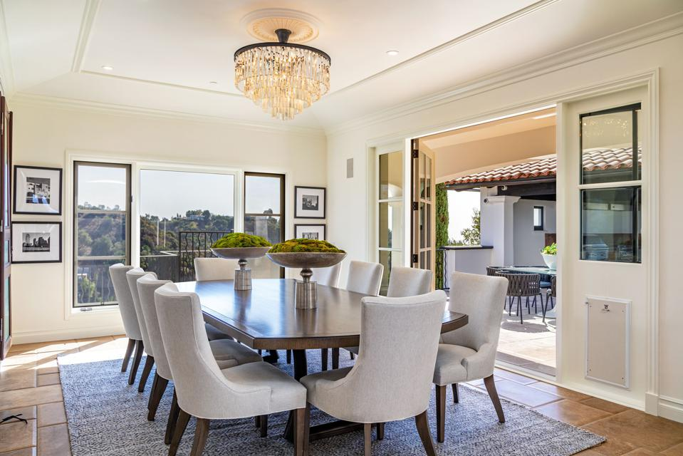 dining room inside 2576 bowmont dr beverly hills luxury home