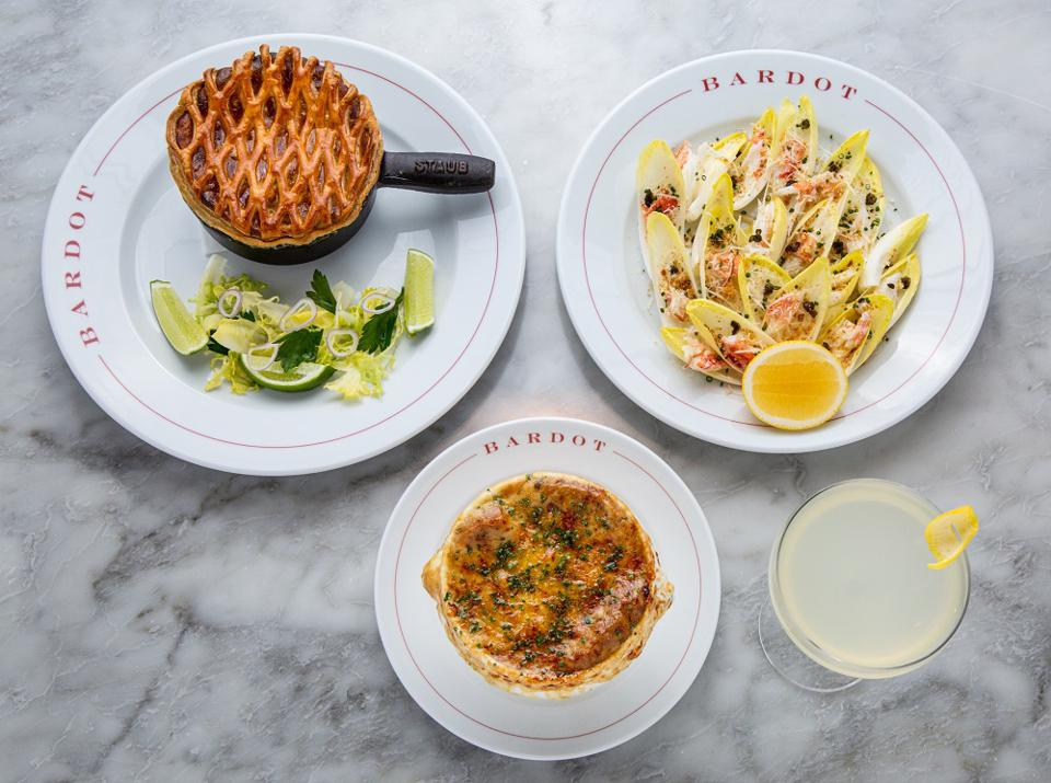 Signature dishes at Bardot Brasserie in Las Vegas
