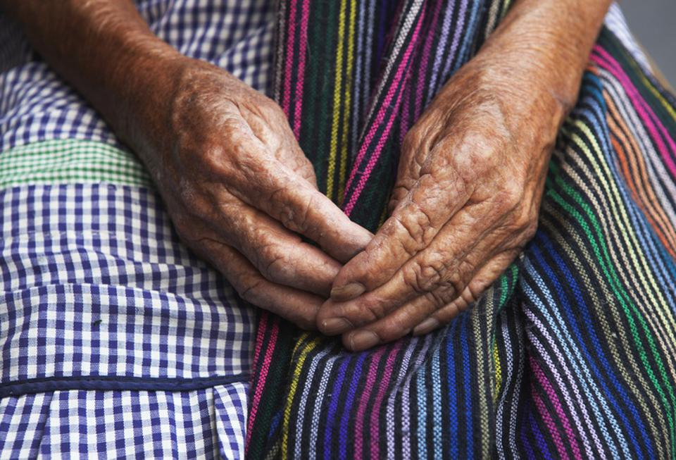 The Beautiful Hands of an Elderly Woman in Mexico