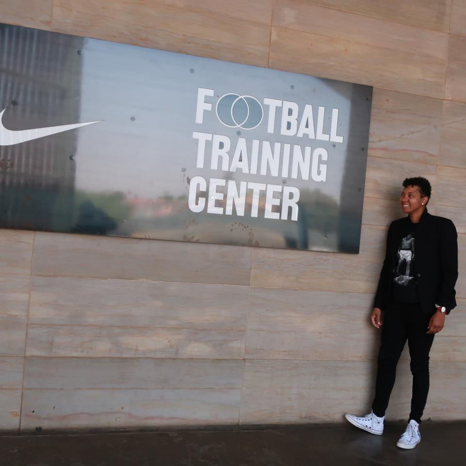 Ashland Johnson, founder of the Inclusion Playbook, at Nike Football Training Facility