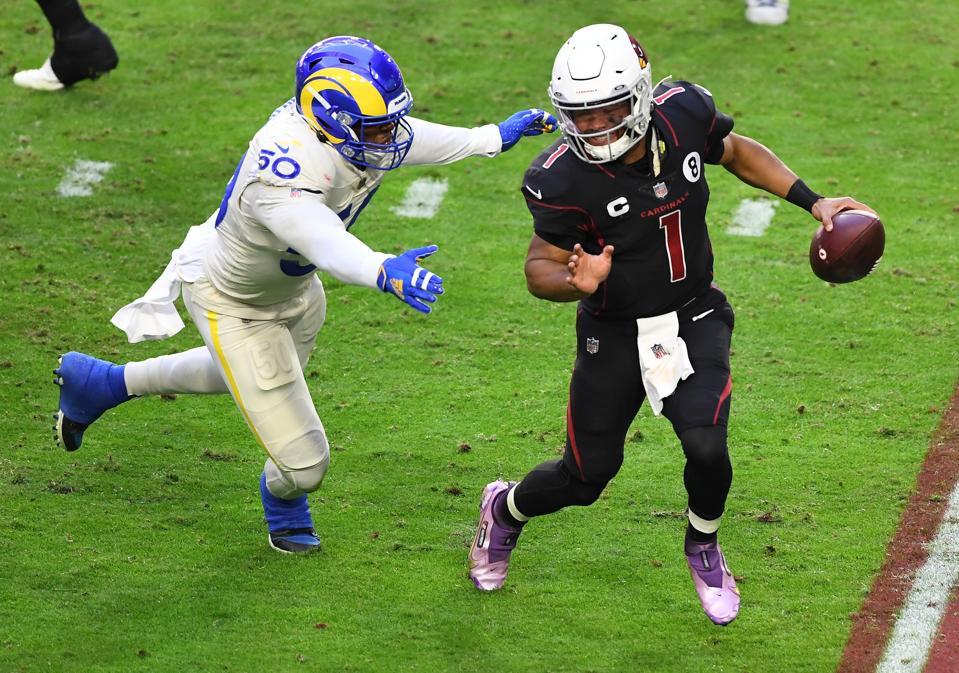 Rams pass rusher Samson Ebukam against the Cardinals.