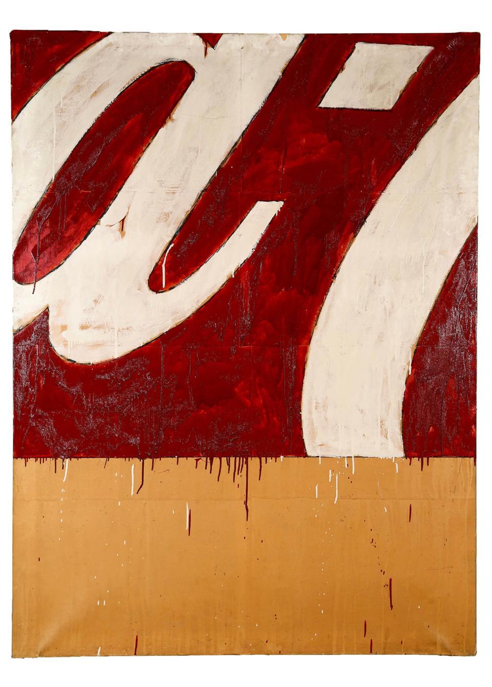 Mario Schifano, Coca-Cola pop art painting