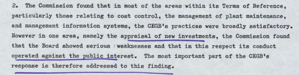 Nigel Lawson's 1982 letter to Lord Stockton at the Department of Trade about the MMC's findings.