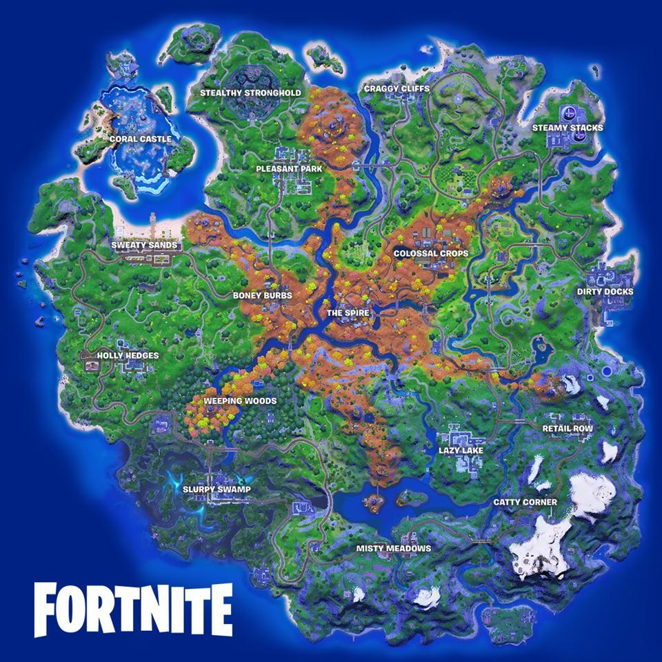 Fortnite Season 6 map
