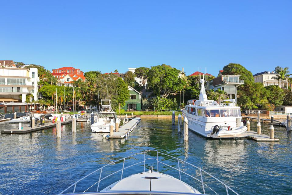 deep water sydney marina at 29A Wunulla Road australia private boatshed home