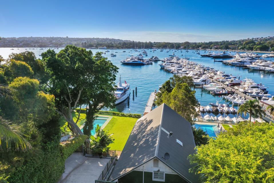 boatshed property sydney australia facing the marina waterfront
