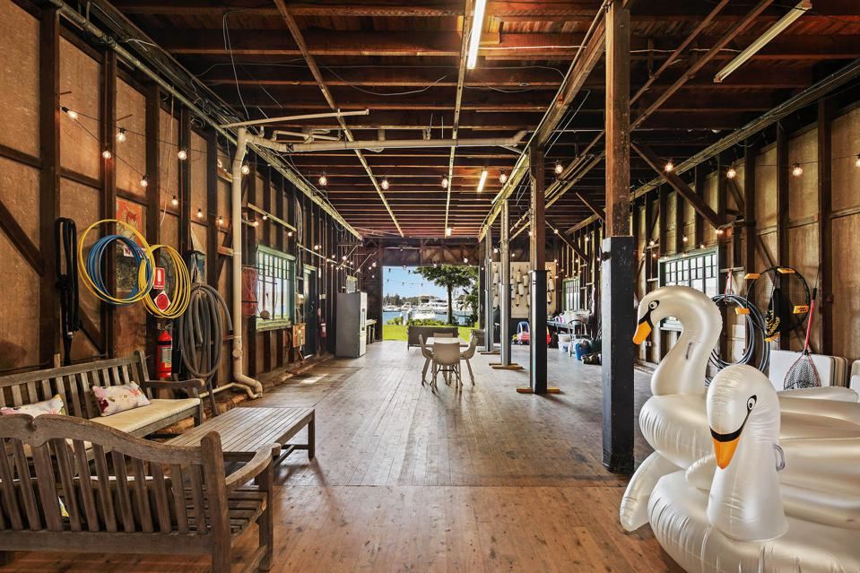 main floor of boatshed house 29A Wunulla Road, Point Piper sydney marina waterfront house
