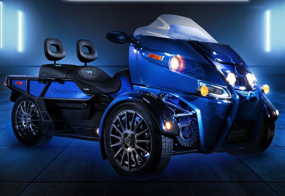 Arcimoto Roadster FUV three-wheel motorcycle