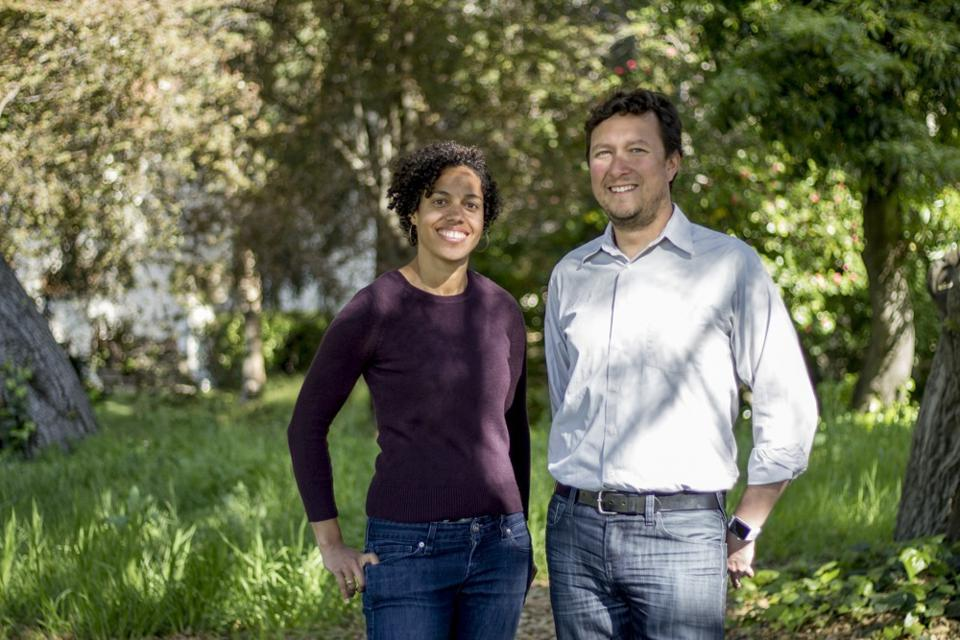 Kimmy and Sergio Paul standing with trees in background