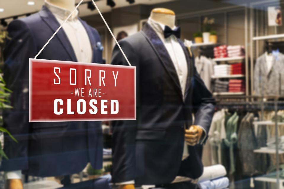 Closed Suit Man Store