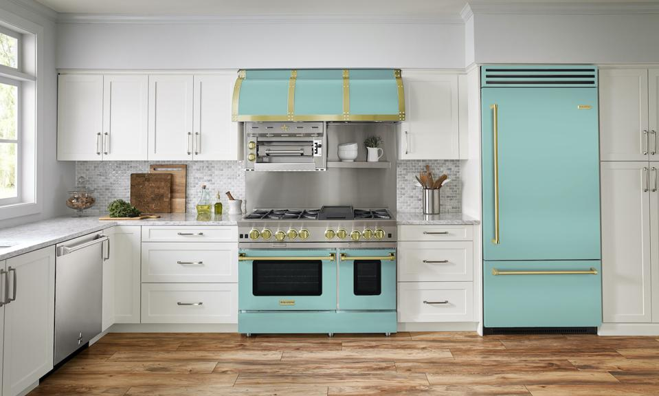 BlueStar's first ever Color of the Year for 2021, Light Aqua Green.