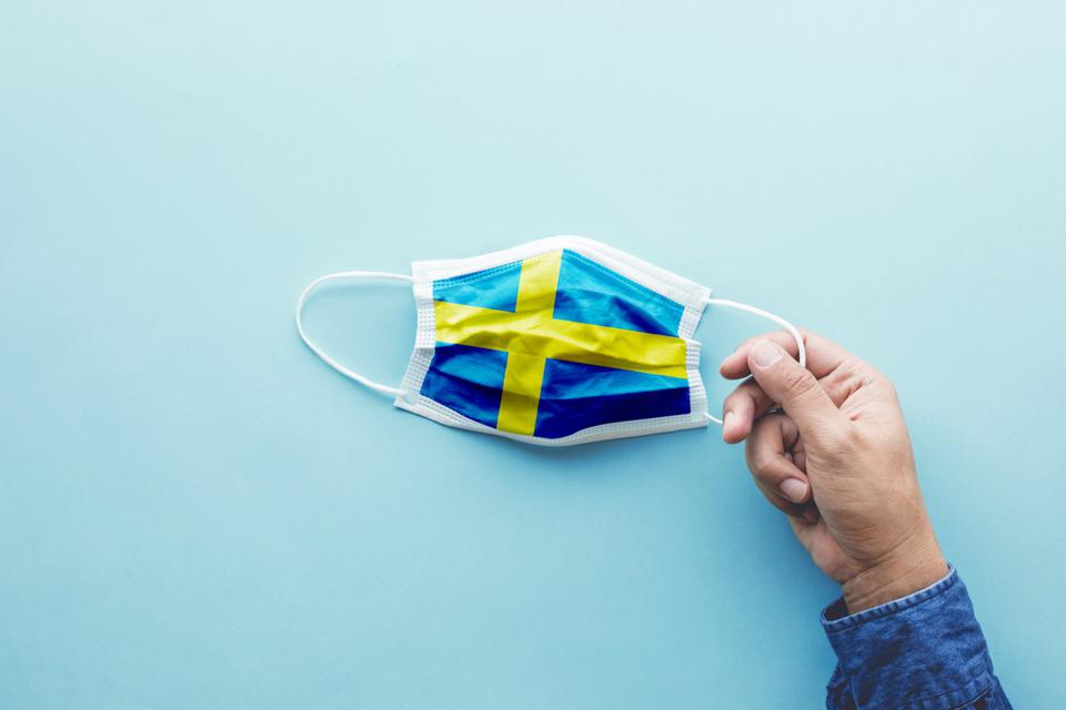 Protect yourself with mask concepts on covid-19 virus outbreak in sweden.body health care.medical equipment.demand and supply.