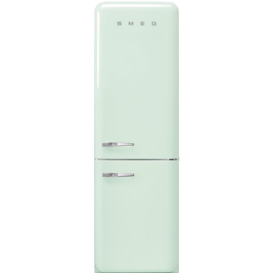 A pastel green refrigerator by SMEG.