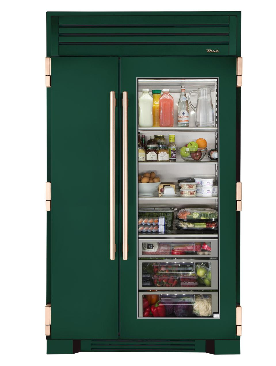True Residential's unit in Emerald refrigerator/freezer.