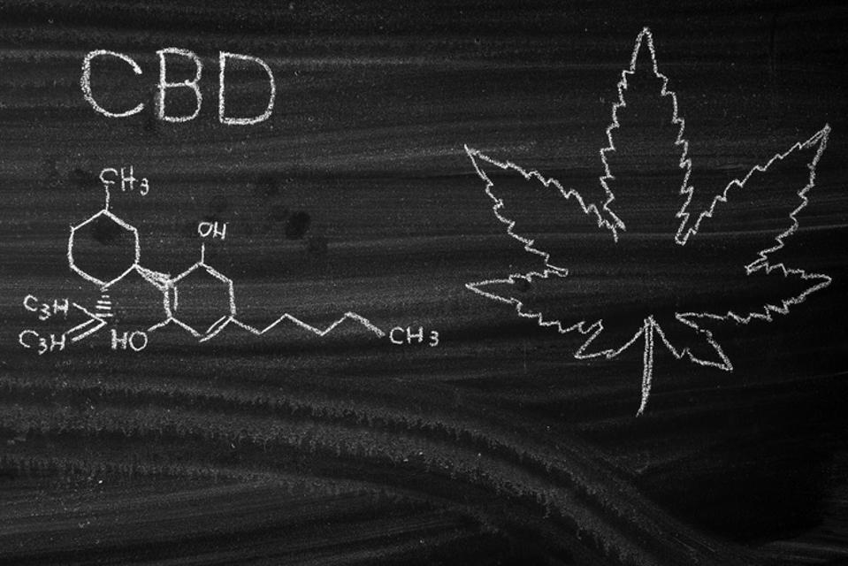 Medical Cannabis and Cannabidiol CBD Oil Chemical Formula.