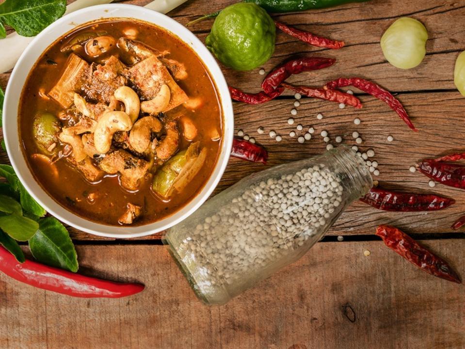 Gaeng Tai Pla, fish organs sour soup, traditional southern Thai food