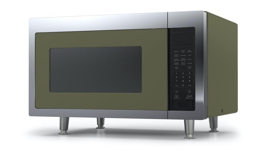 Big Chill's retro moss green microwave.