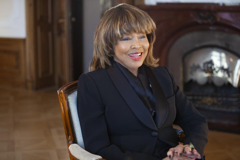 Tina Turner in a scene from the HBO documentary 'Tina.'