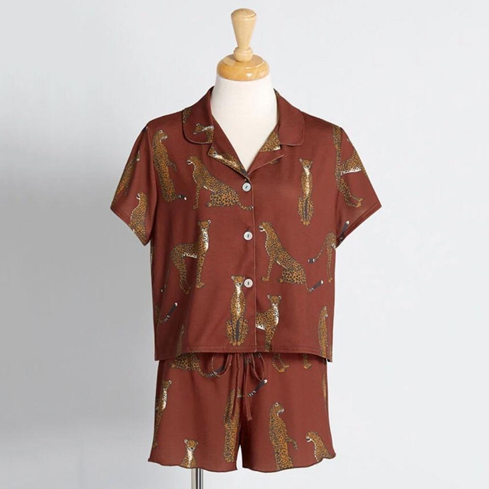 ModCloth Chilling With Cheetahs Pajamas
