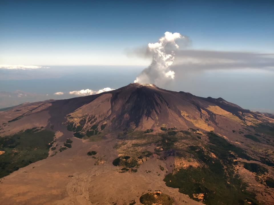Aerial view of Mount Etna, Sicily