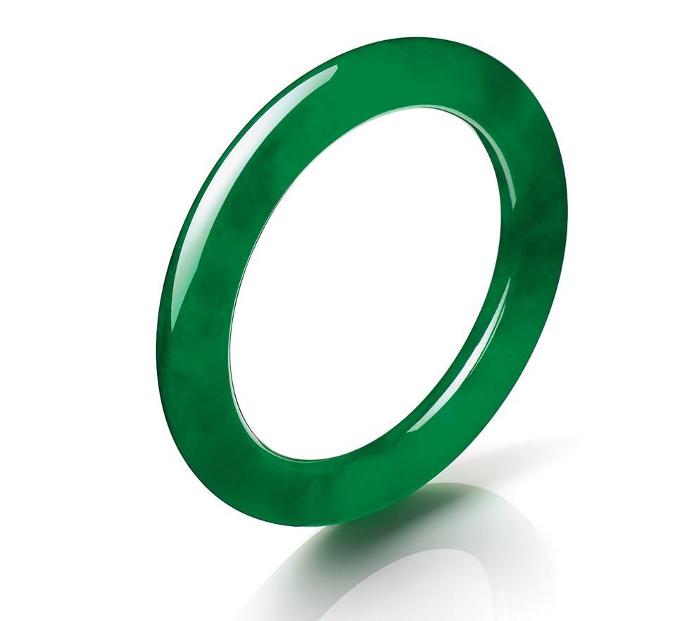 "The 277.67-carat ""Circle of Happiness"" jadeite bracelet. Estimate upon request."