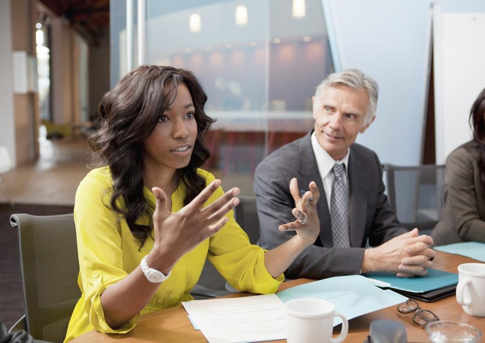 Leadership business meeting
