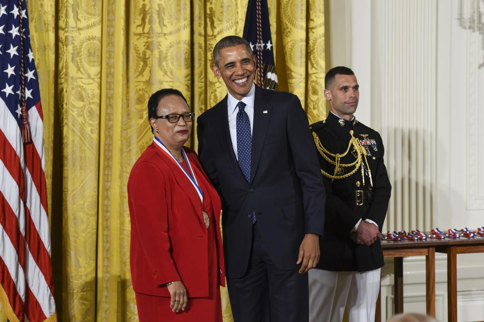 dr shirley jackson with president obama