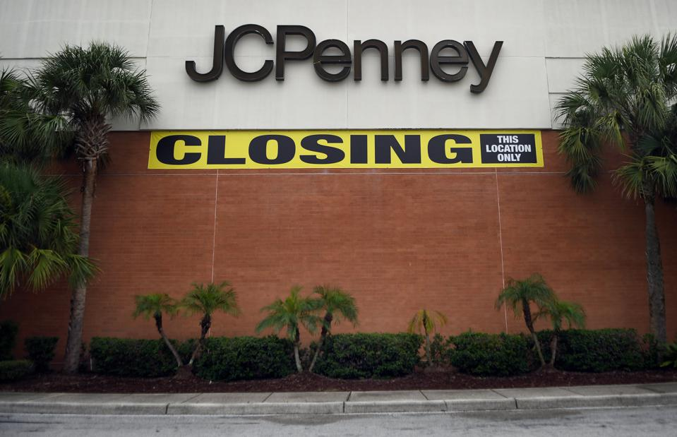 A JCPenney store that is in the process of closing after the...