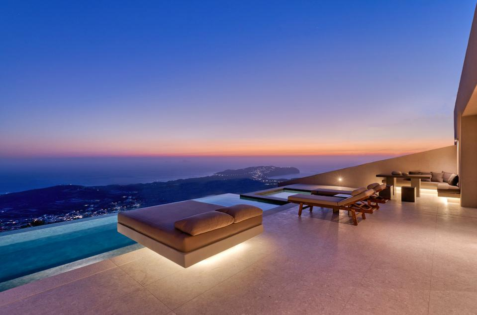 Santorini Sky's master villa comes with the highest infinity pool on the island.
