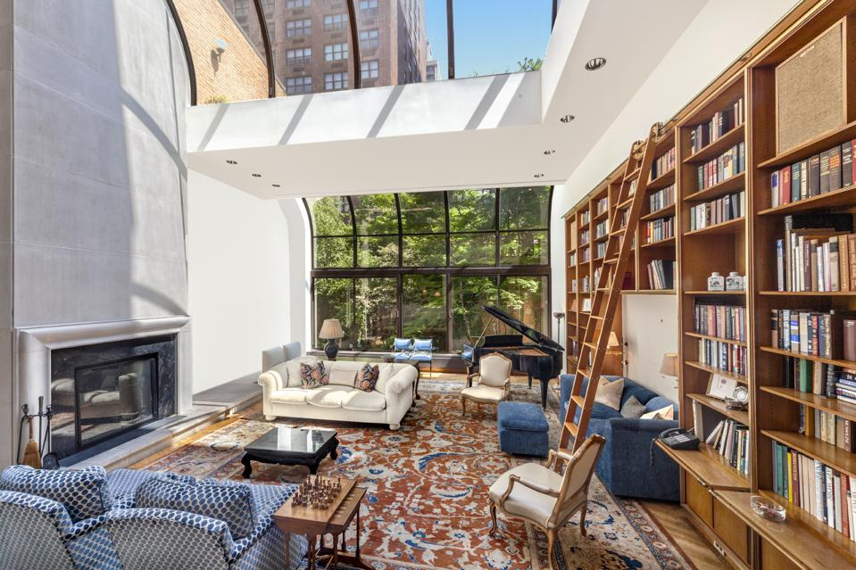 lenox hill townhouse with builtin bookshelves manhattan nyc
