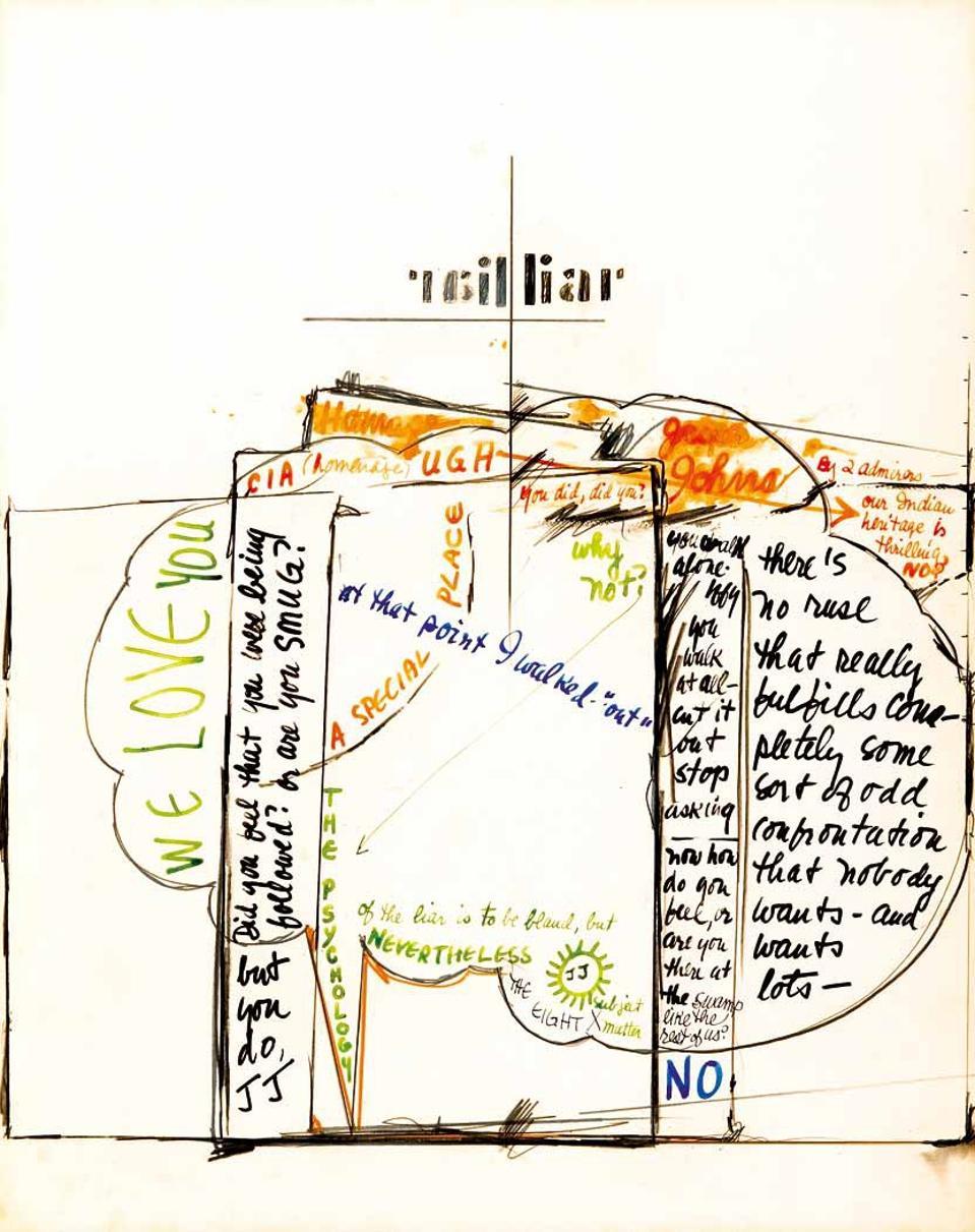 Frank O'Hara and Mario Schifano words and drawings