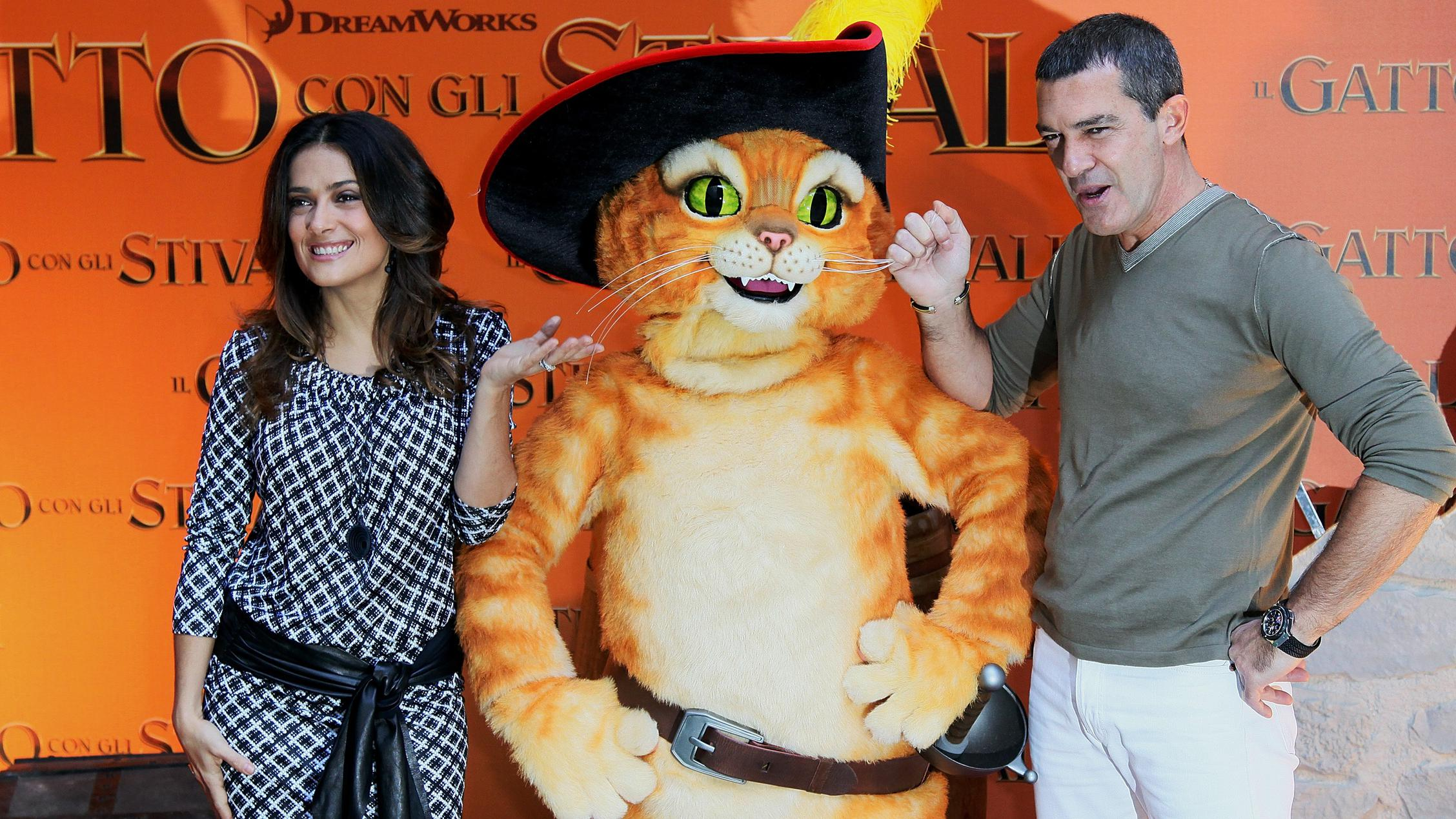 'Puss in Boots' Photocall In Rome
