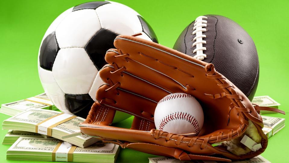 baseball glove, football, soccer ball