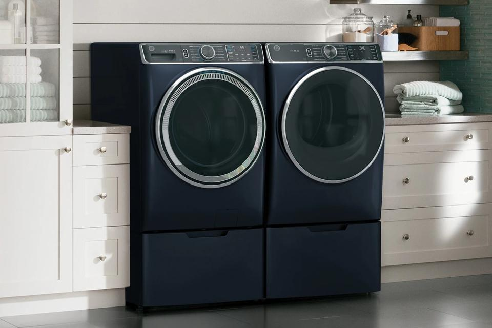 G.E. UltraFresh Vent System Front-Load Washer & Electric Dryer Set with OdorBlock