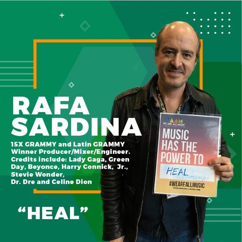Rafa Sardina supporting the #WeAreAllMusic campaign.
