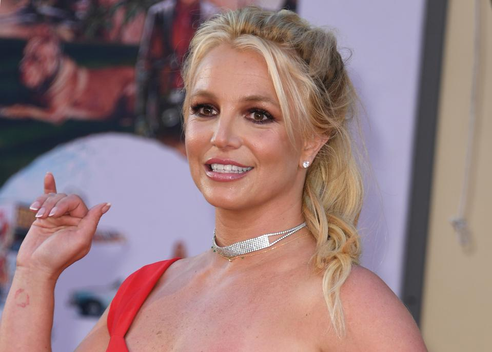 Britney Spears arrives for the premiere ″Once Upon a Time... in Hollywood″