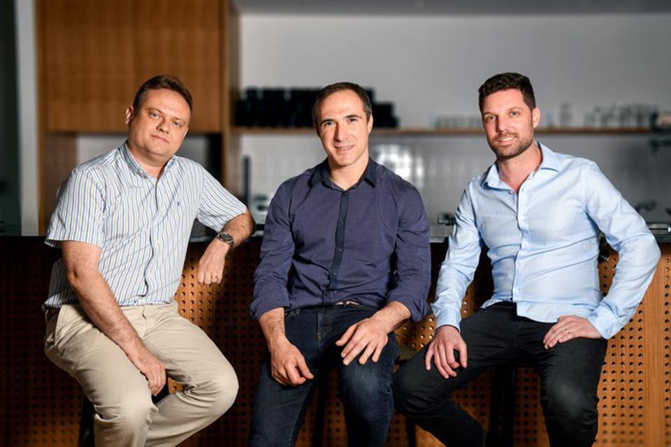 Fireblock's co-founders: left - Pavel Berengoltz, VP of research and development, center - Michael Shaulov, CEO, right - Idan Ofrat, CTO