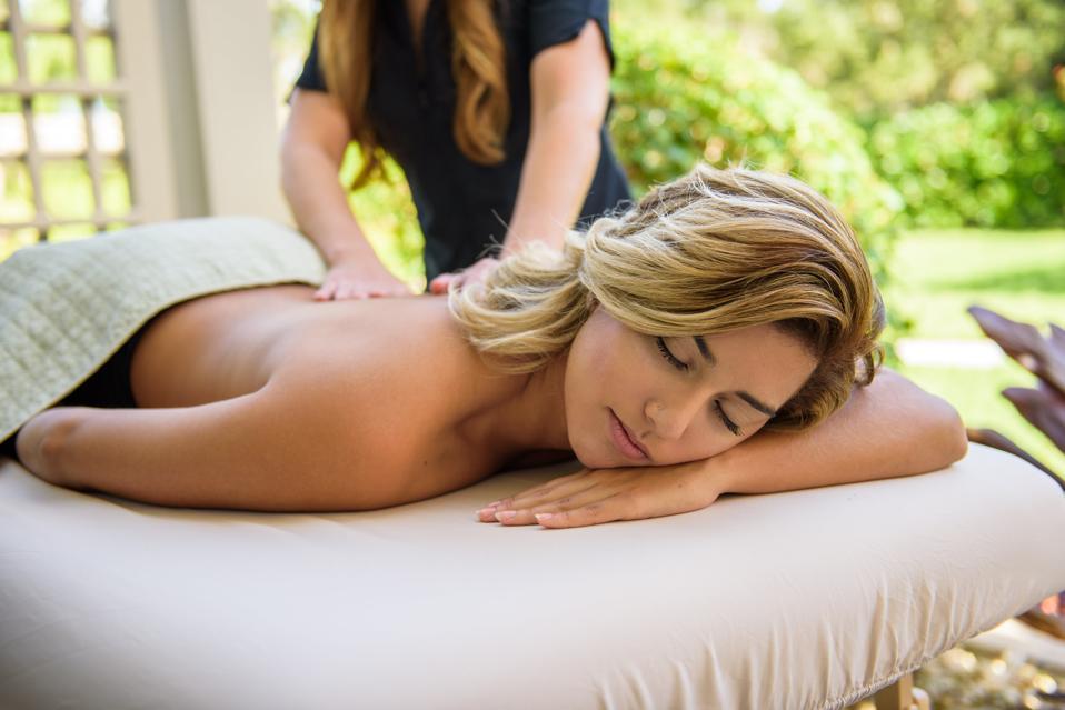 A women getting a massage at Salamander Spa at Innisbrook Resort.
