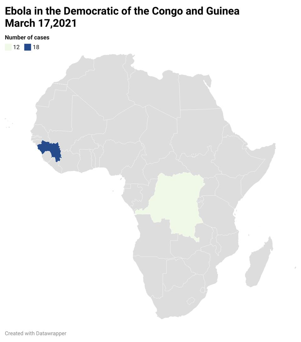 Cases of Ebola Virus Disease have recently been reported from Guinea and the Democratic Republic of the Congo